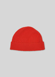Cable Knit Beanie Hat Pink