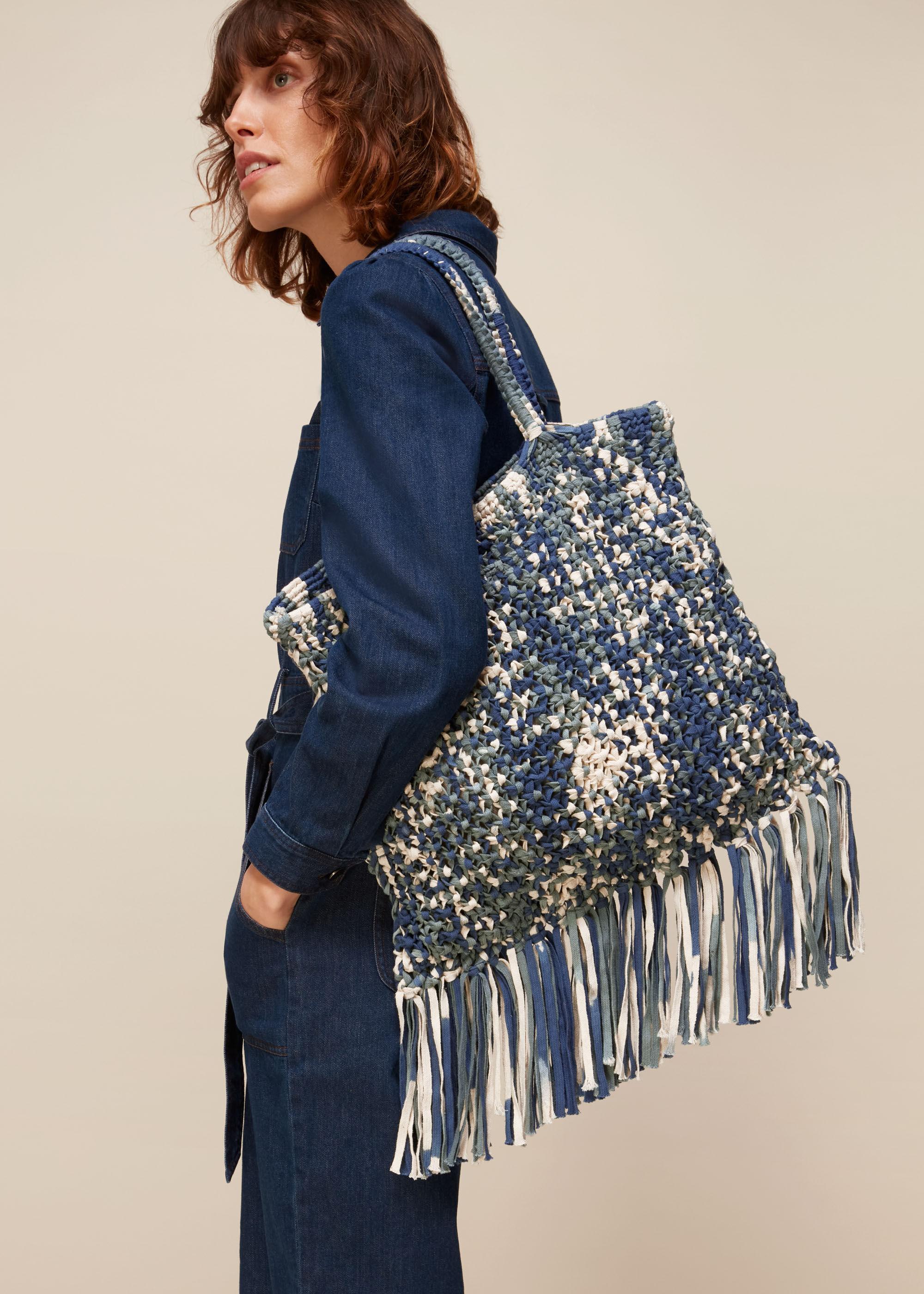 Whistles Women Clea Tie Dye Crochet Tote