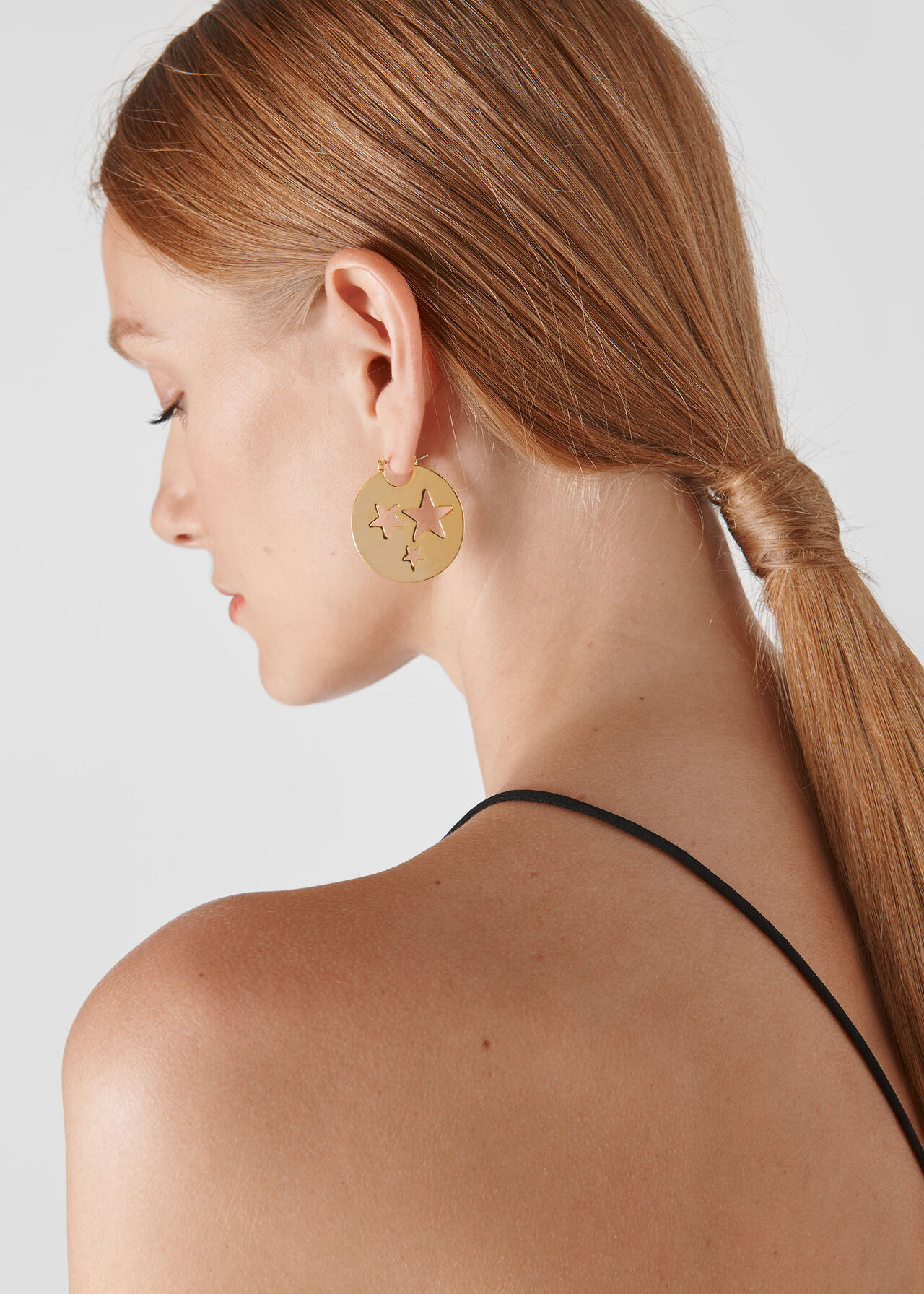 Star Cut Out Earring Gold/Multi