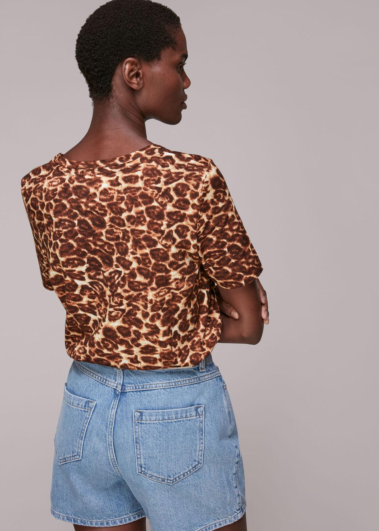 Clouded Leopard Rosa T Shirt