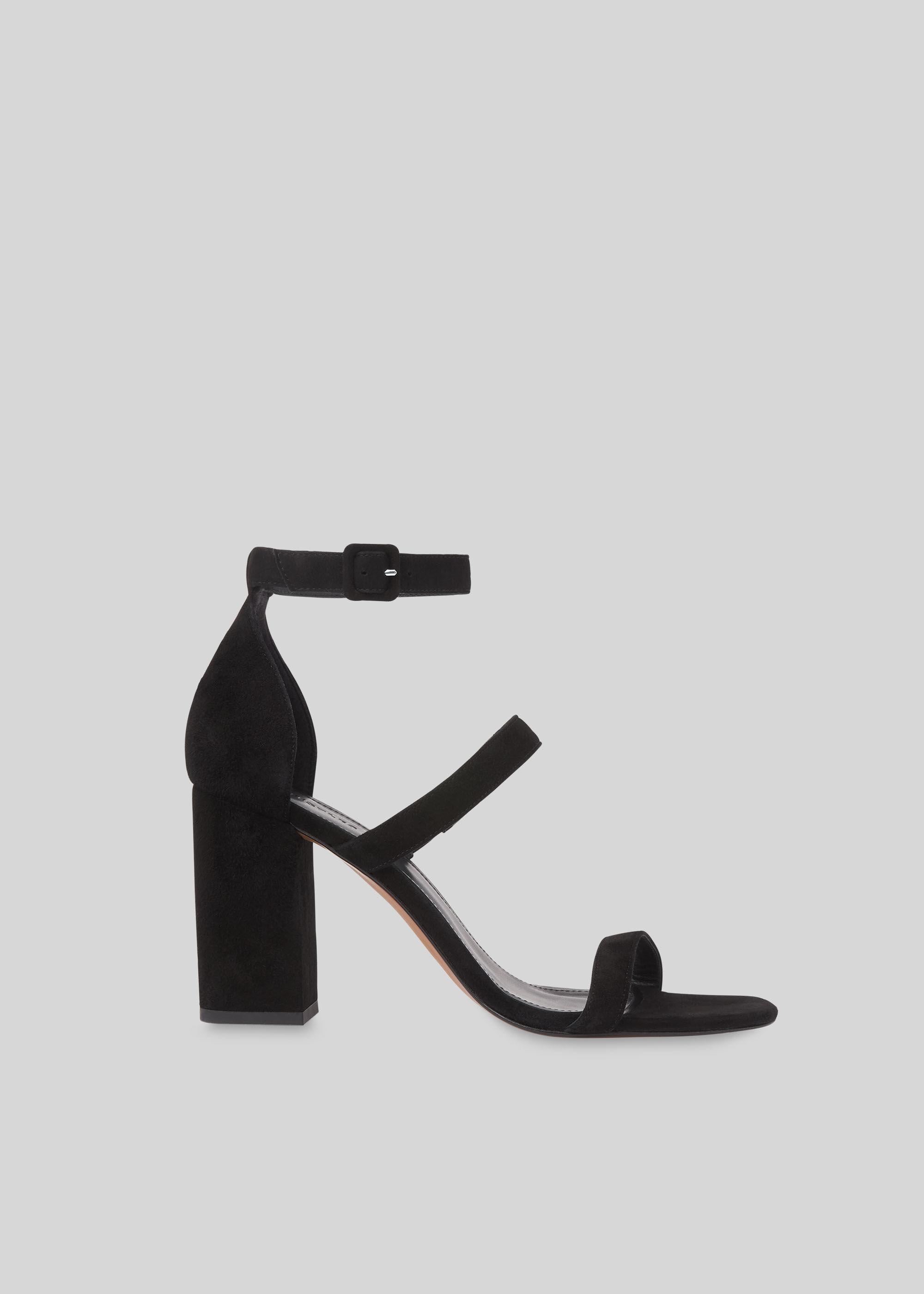 Black Hayes Block Heel Sandal