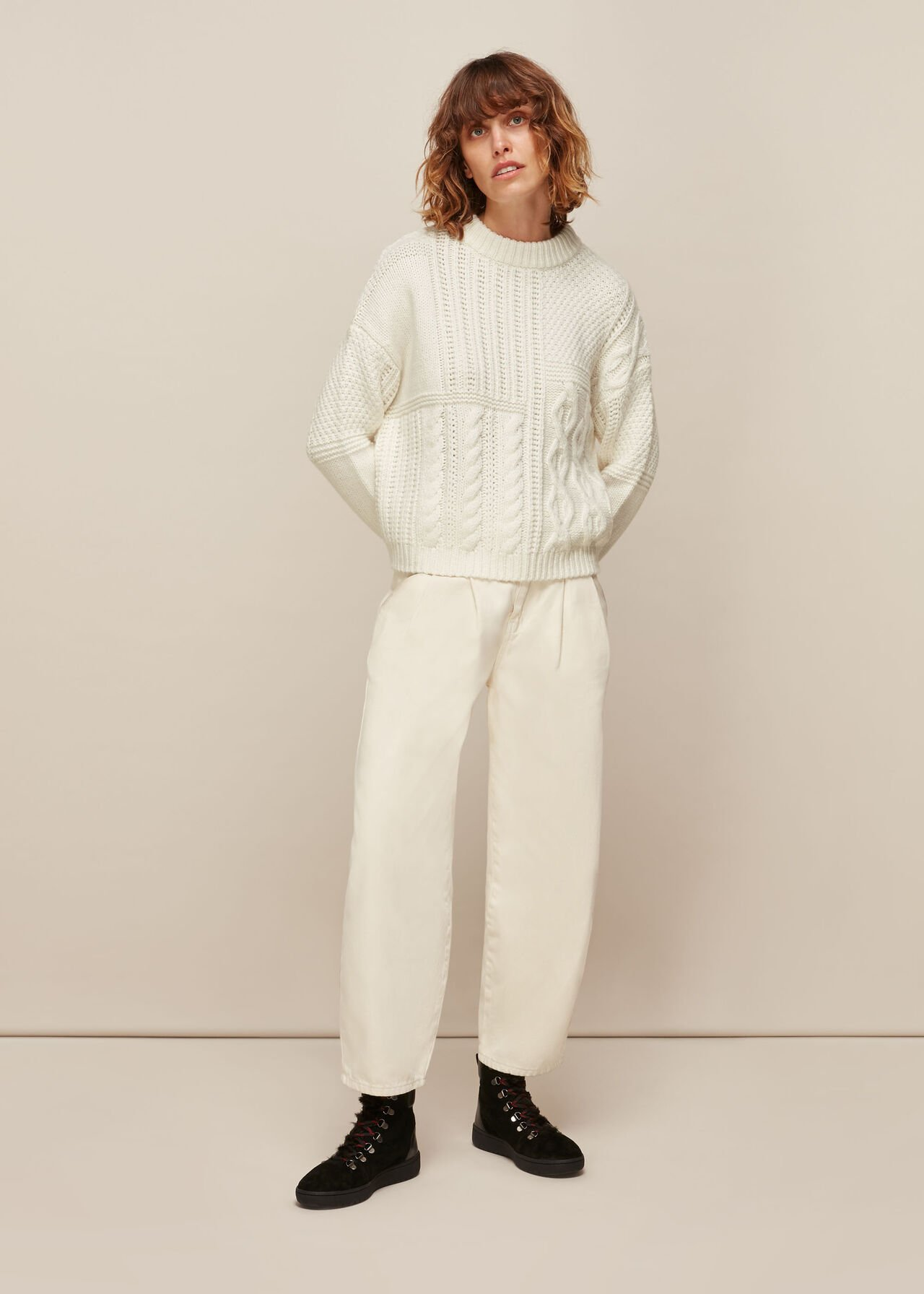 Patchwork Cable knit