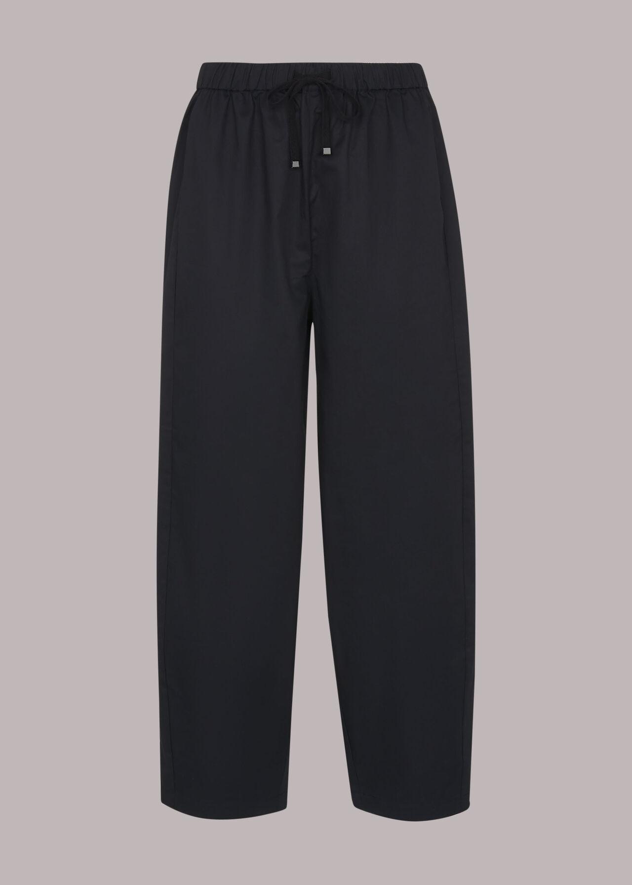 Poplin Barrel Leg Trouser