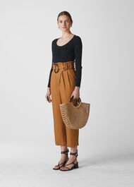 Amelie Paper Bag Trouser Brown