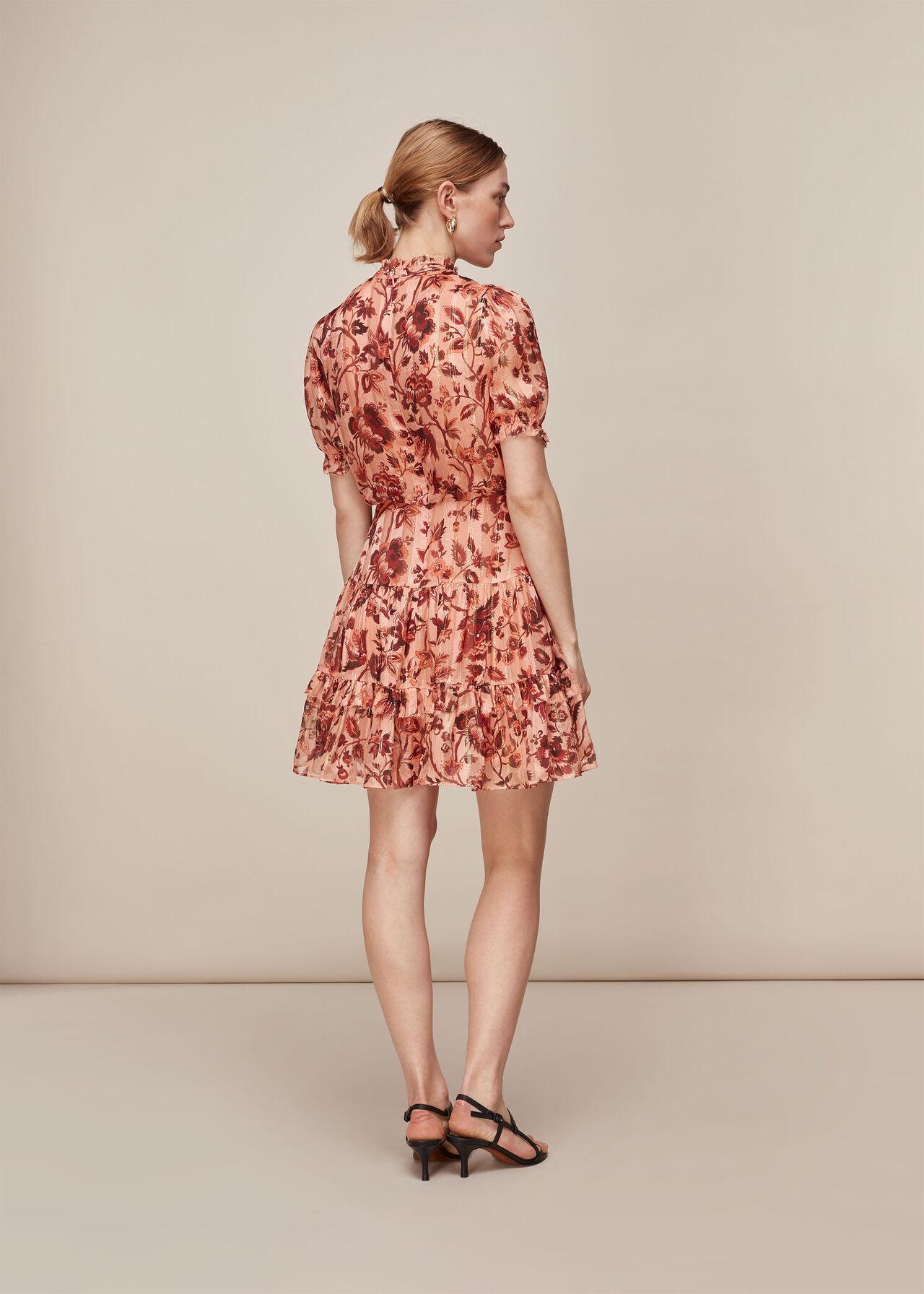 Sophia Prairie Silk Dress Pink/Multi
