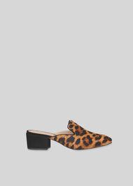 Dex Backless Low Heel Shoe Tan