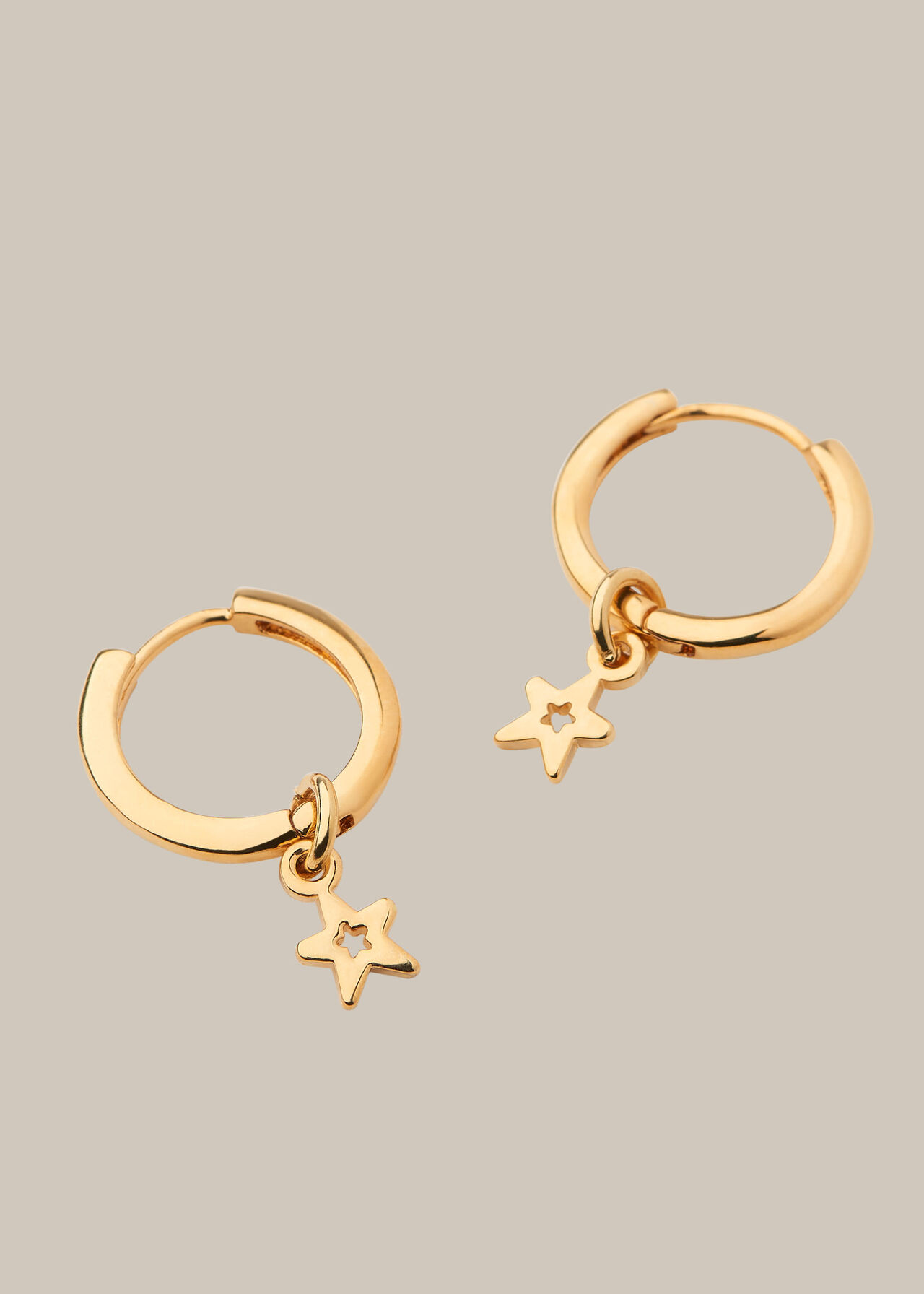 Mini Star Hoop Earring