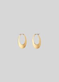 Large Oval Hoop Gold/Multi