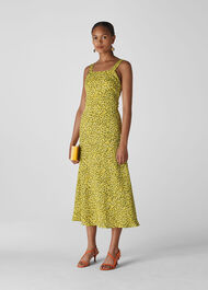 Llora Clouded Leopard Dress Yellow/Multi