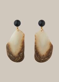 Stone Effect Drop Earring Brown/Multi