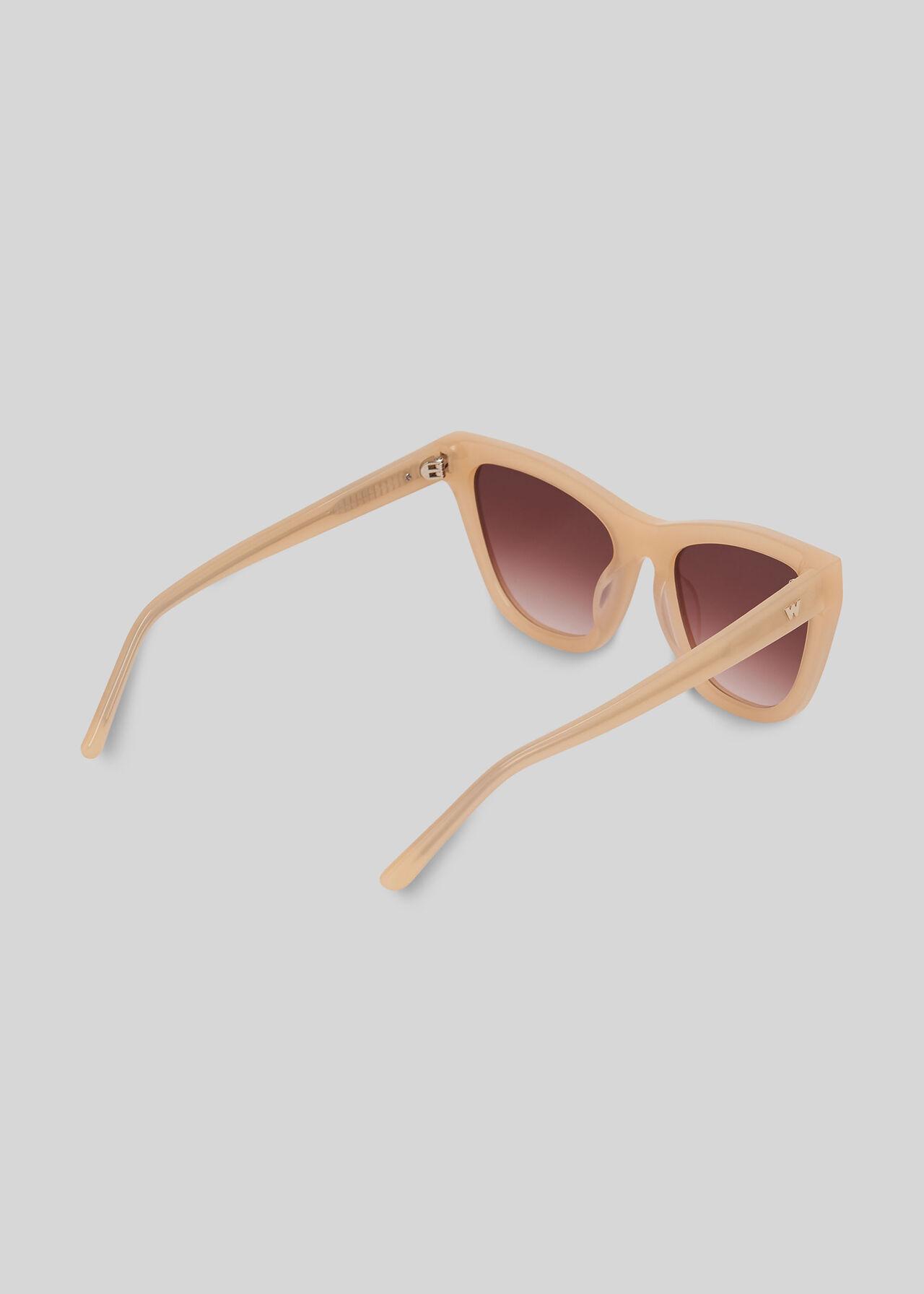 Asha Angular Sunglasses NUDE