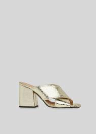 Ayres Cross Strap Sandal Gold