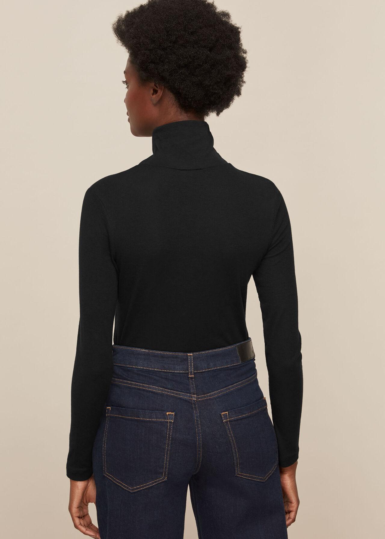 Essential Polo Neck Black