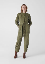 Julianna Utility Jumpsuit Khaki