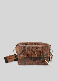 Bibi Snake Crossbody Bag Tan