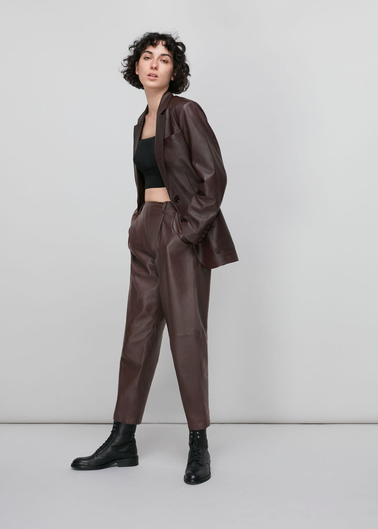 Leather Tapered Trouser