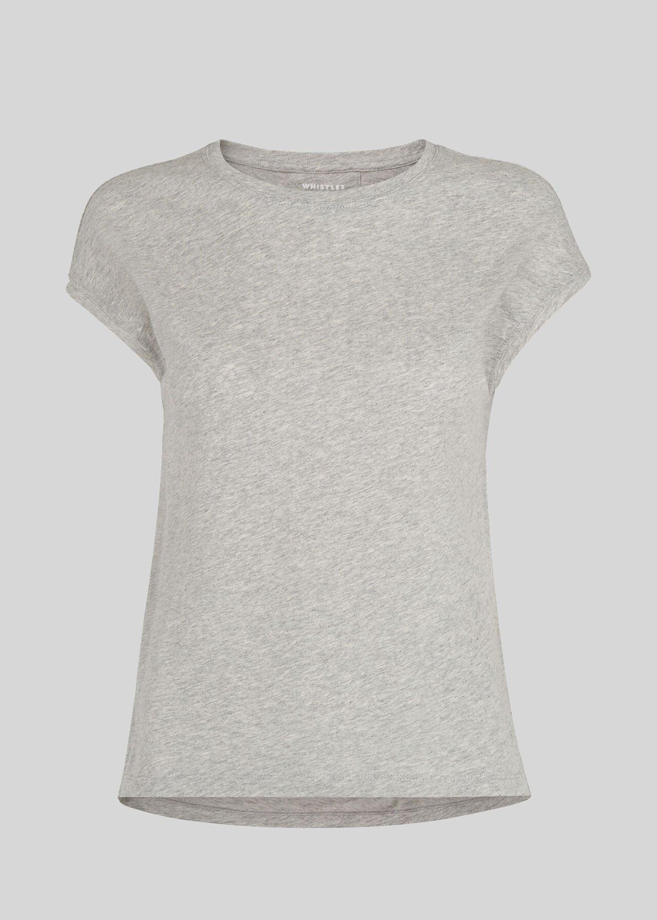 Minimal Cap Sleeve Tee Grey