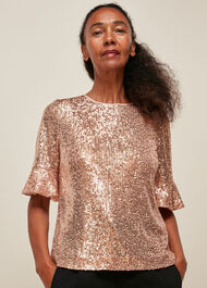 Sada Sequin Top