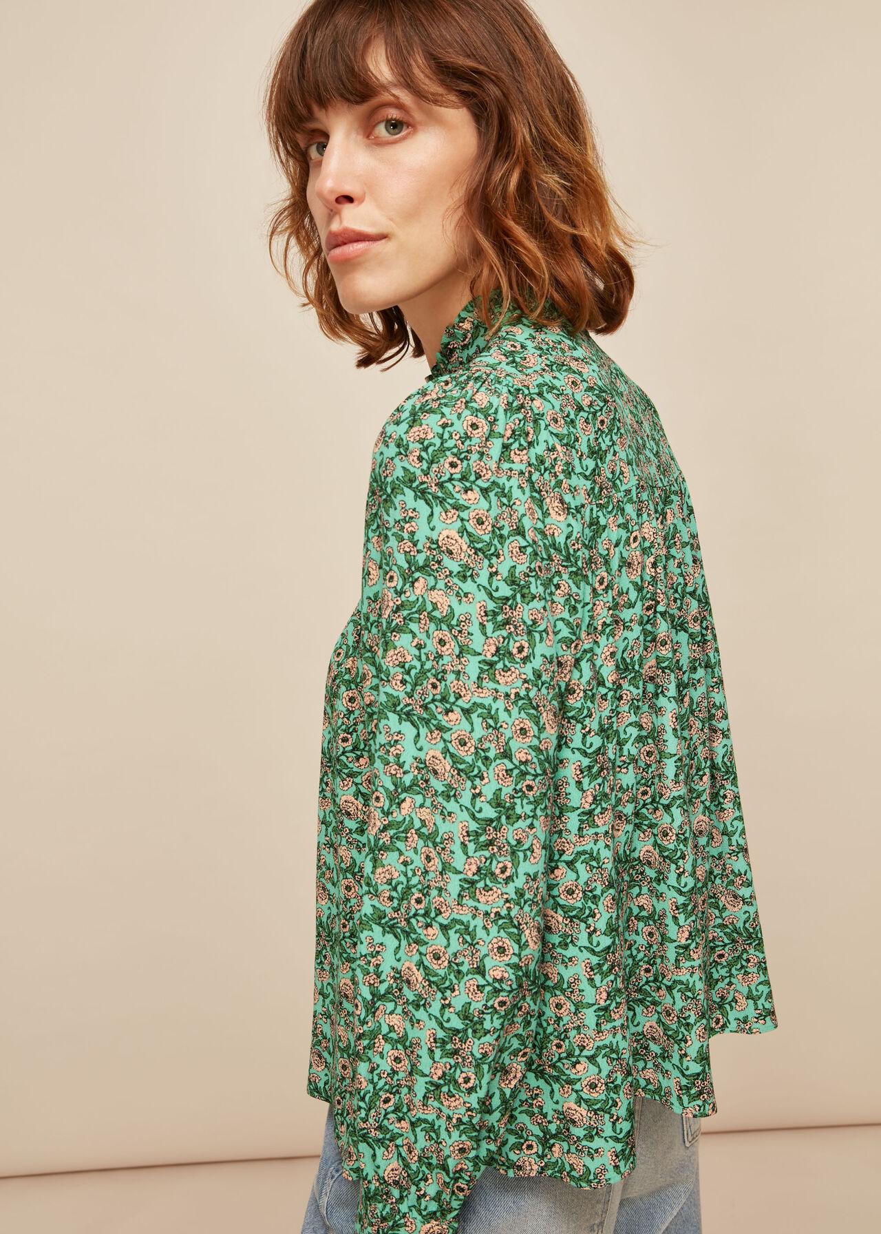 Heath Floral Print Top