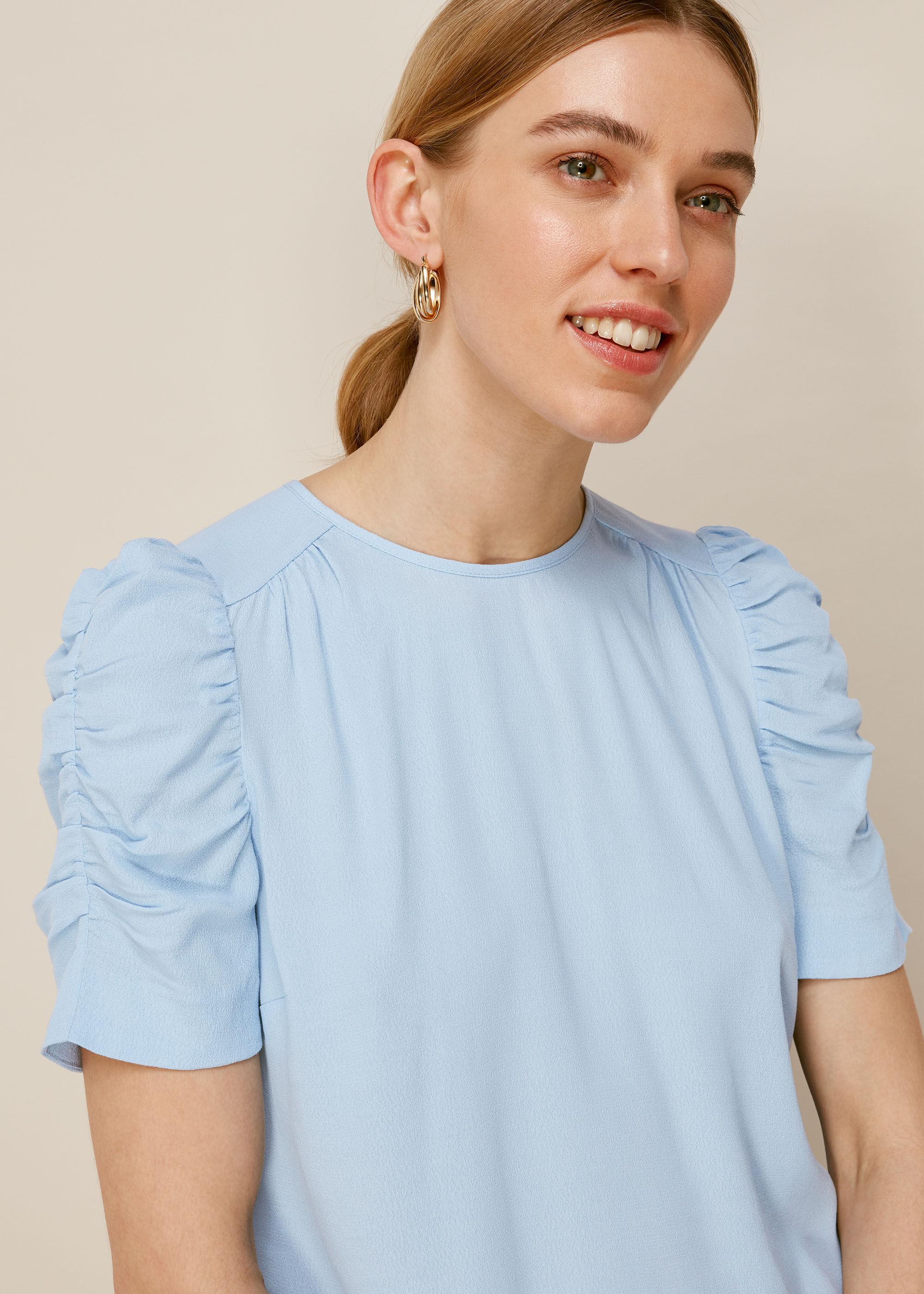 Wolf/&Whistle Frill Top Vest Cobalt or Light Blue Blue Rrp £30 Choose Size