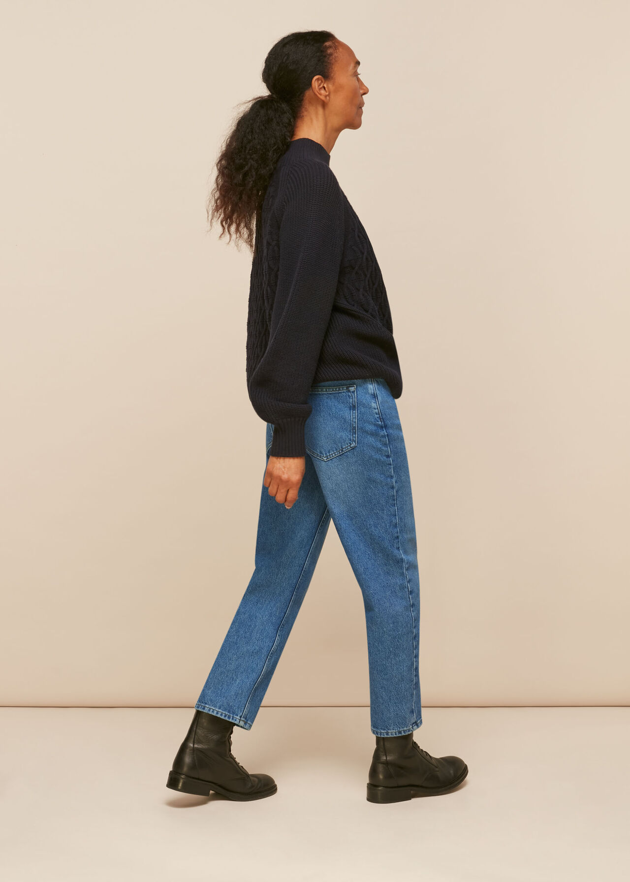 Hollie Button Front Jean Denim