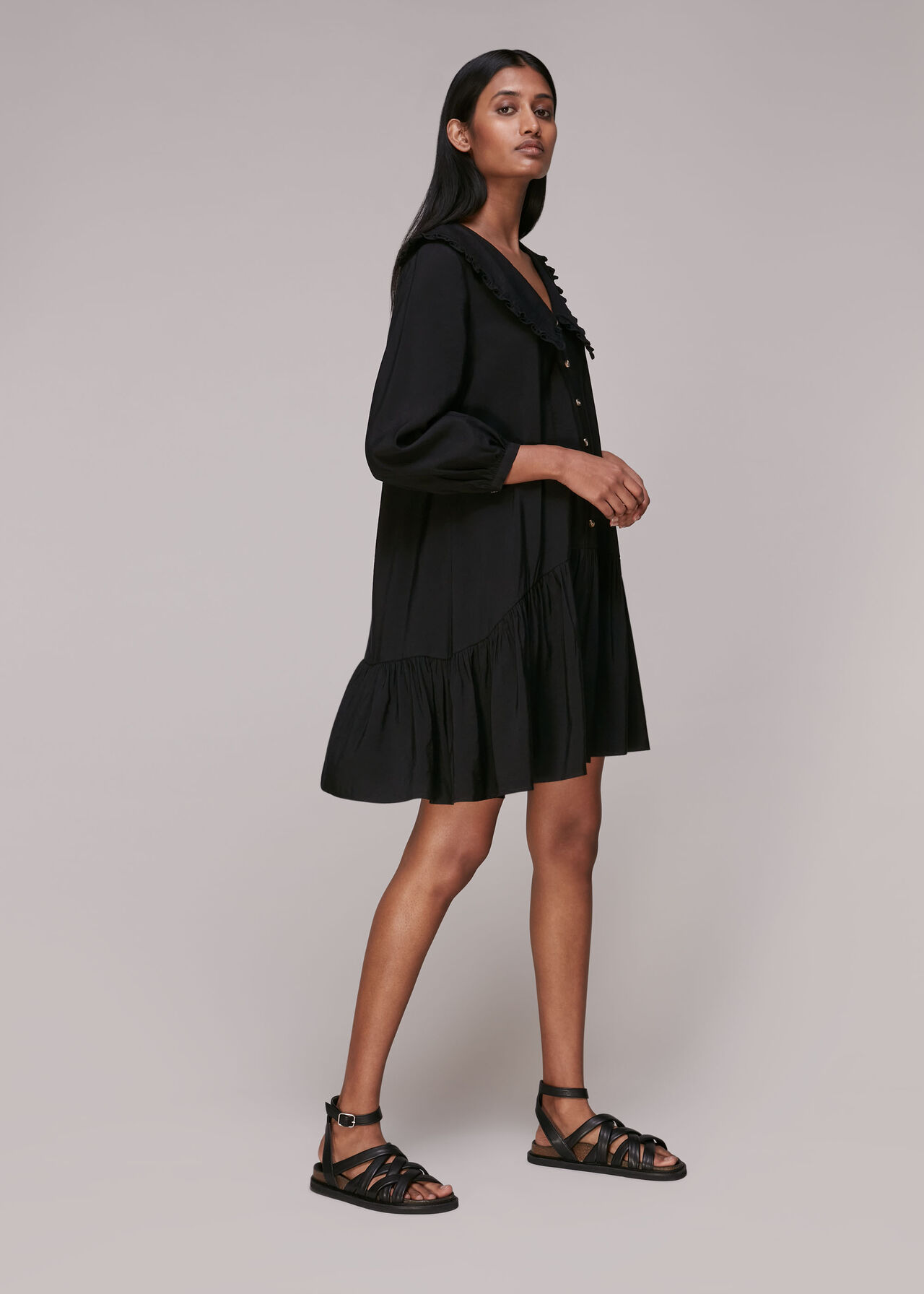 Emery Collar Detail Dress