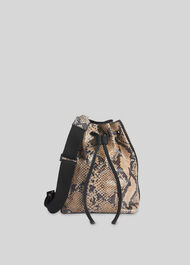Barton Snake Soft Bucket Bag Snake Print