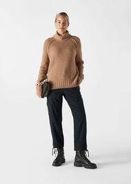Chunky Cashmere Knit Camel