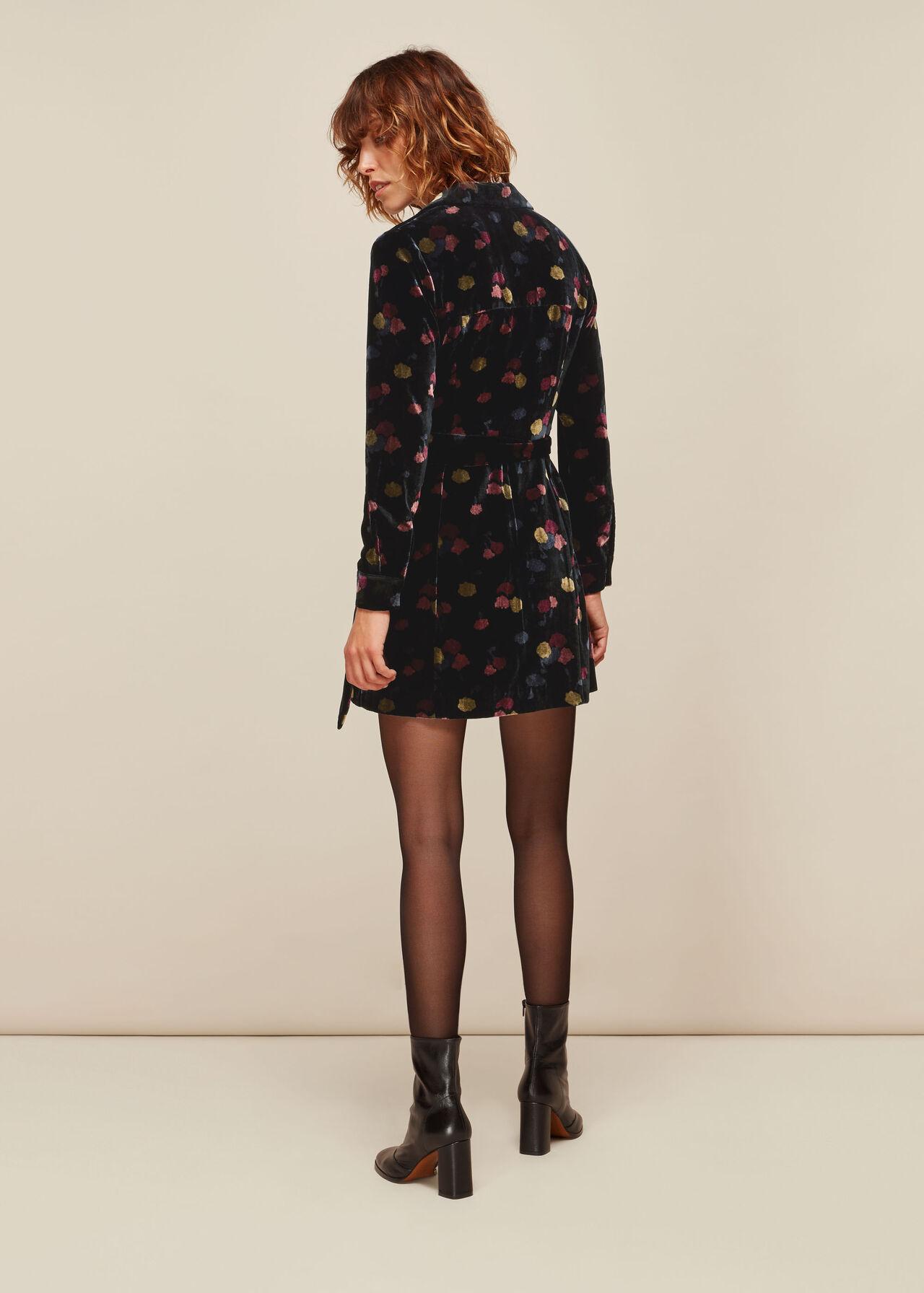 Flowerpod Velvet Dress