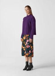 Rib Detail Wool Knit Purple