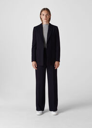 Relaxed Patch Pocket Jacket Navy
