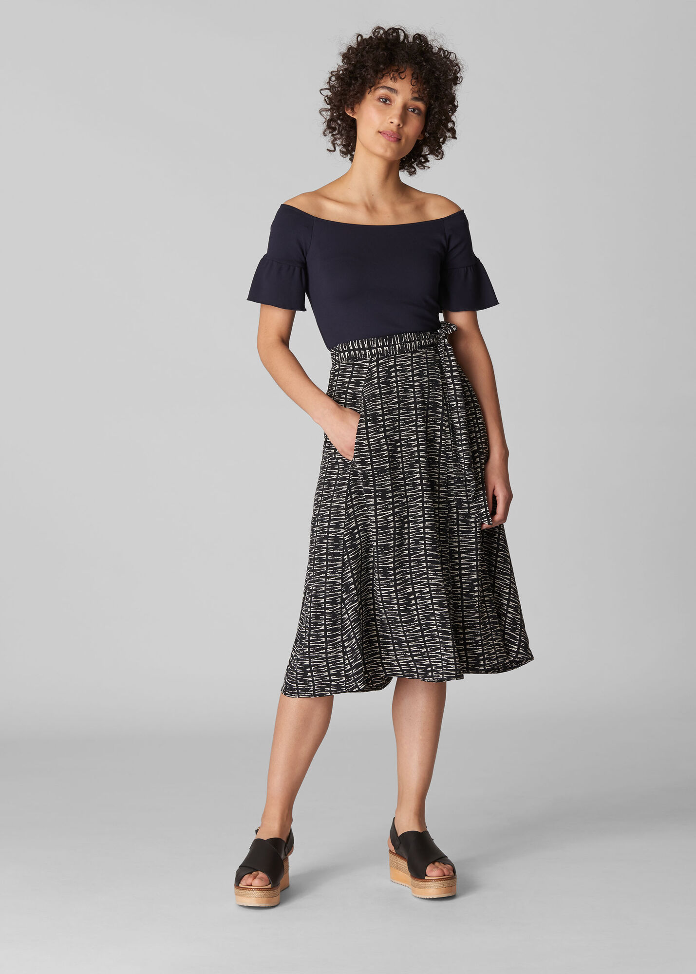 Sahara Print Avie Wrap Skirt