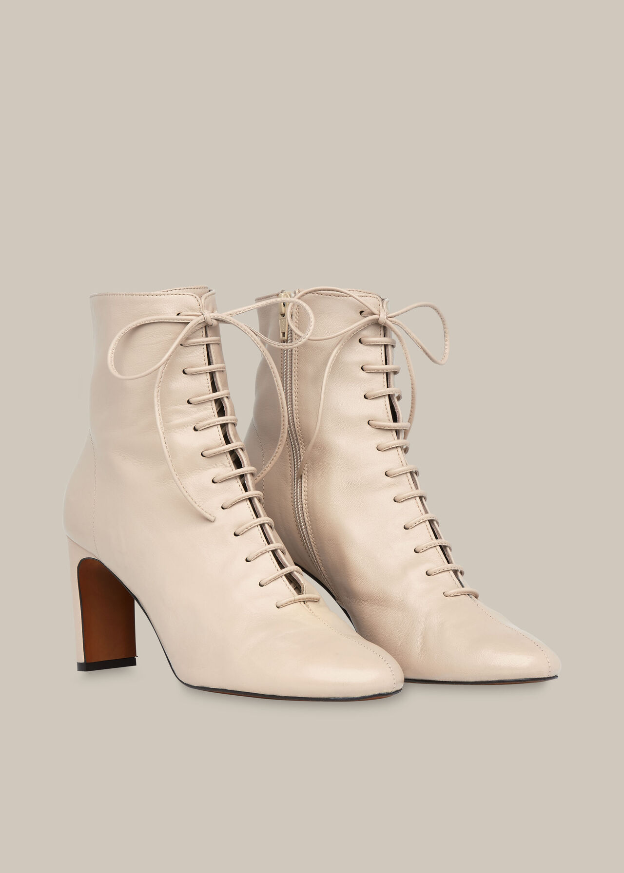 Dahlia Lace Up Boot Stone