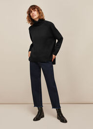 Cashmere Roll Neck Sweater Black