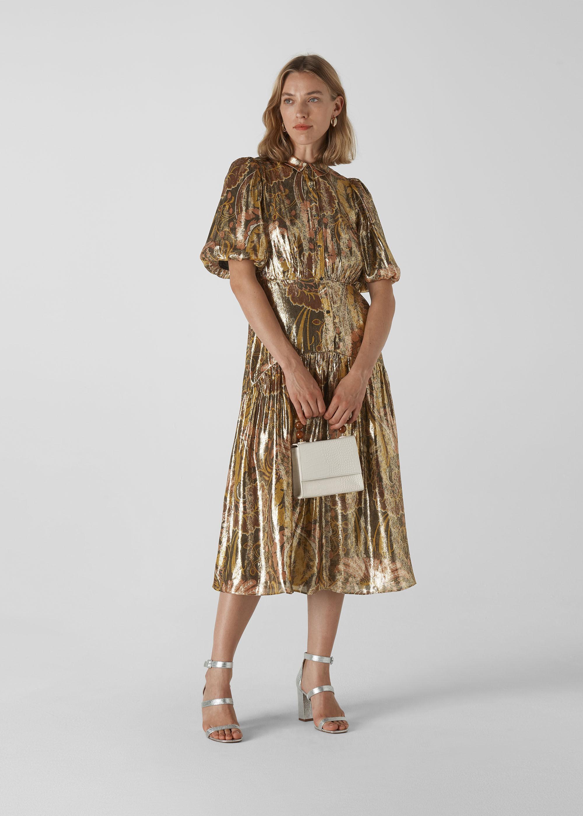 Whistles Women Paisley Silk Mix Dress