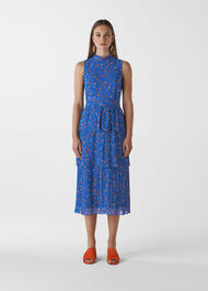 Ditsy Floral Tiered Dress Blue/Multi