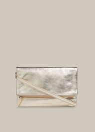 Issy Mini Foldover Bag Gold/Multi