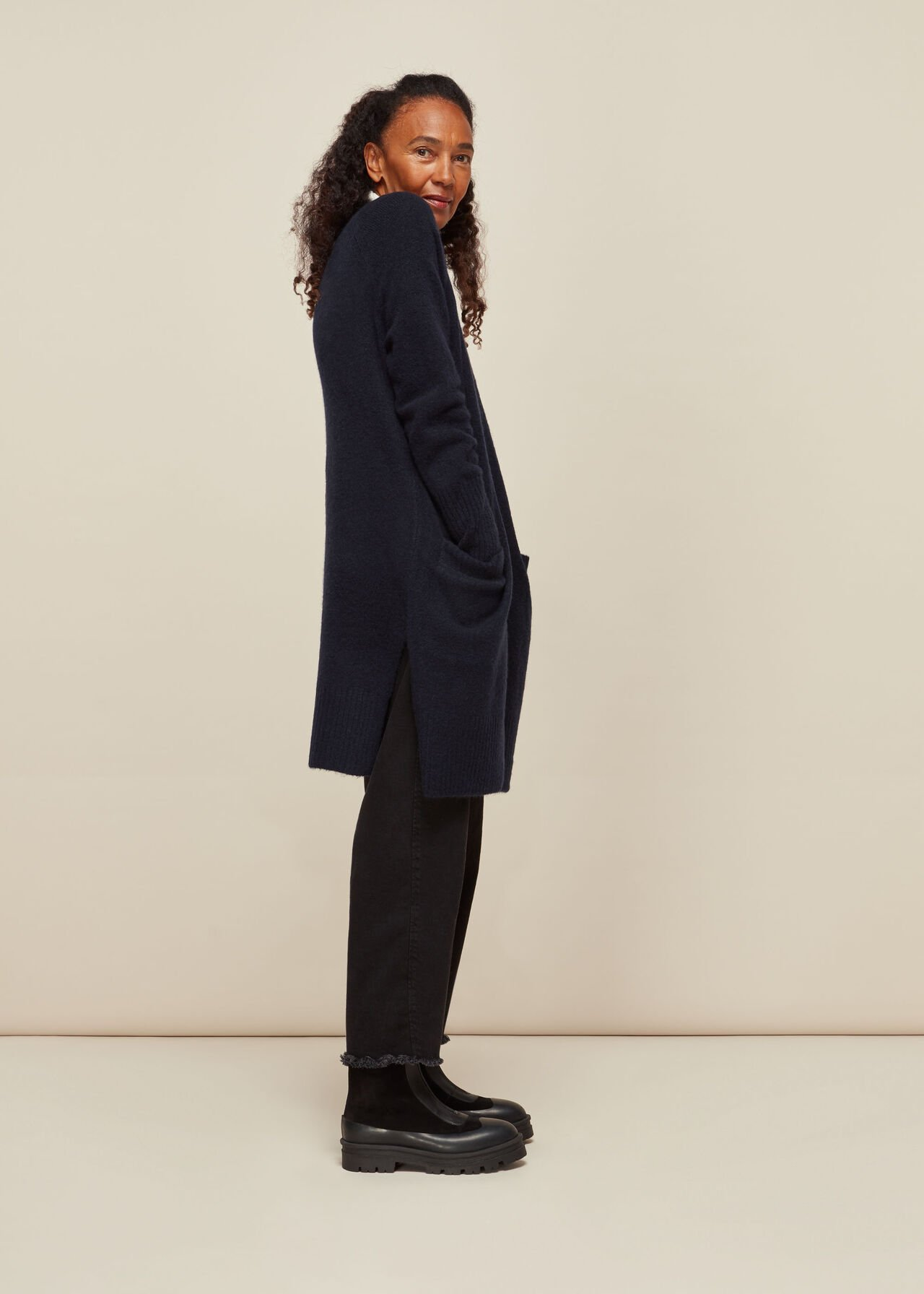 Lilly Long Line Wool Cardigan