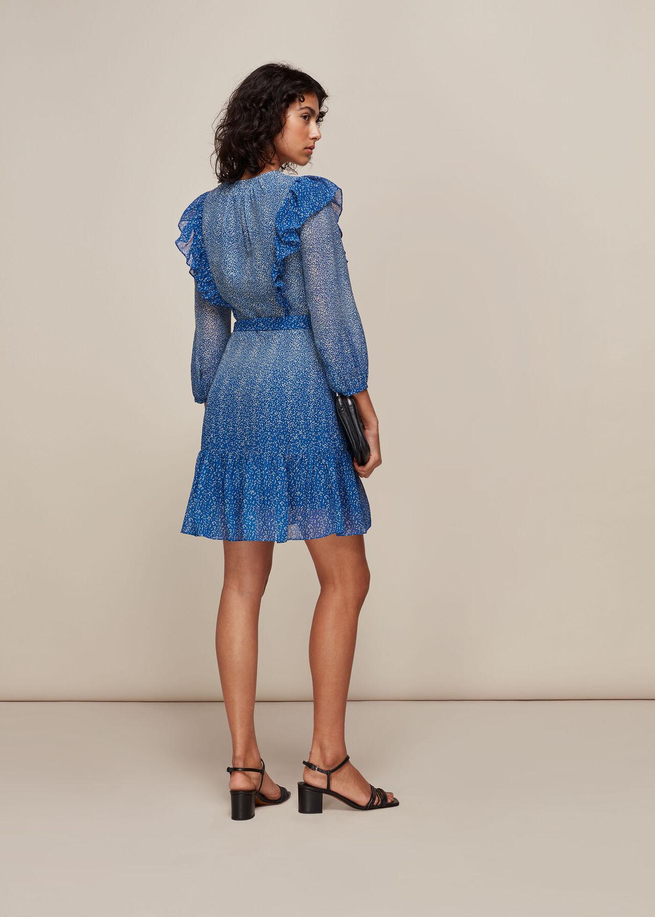 Floral Gradient Dress Blue/Multi