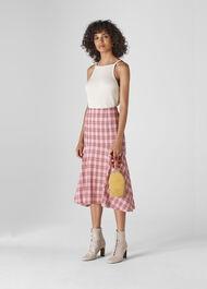 Check Seersucker Skirt Pink/Multi