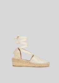 River Espadrille Tie Sandal Cream