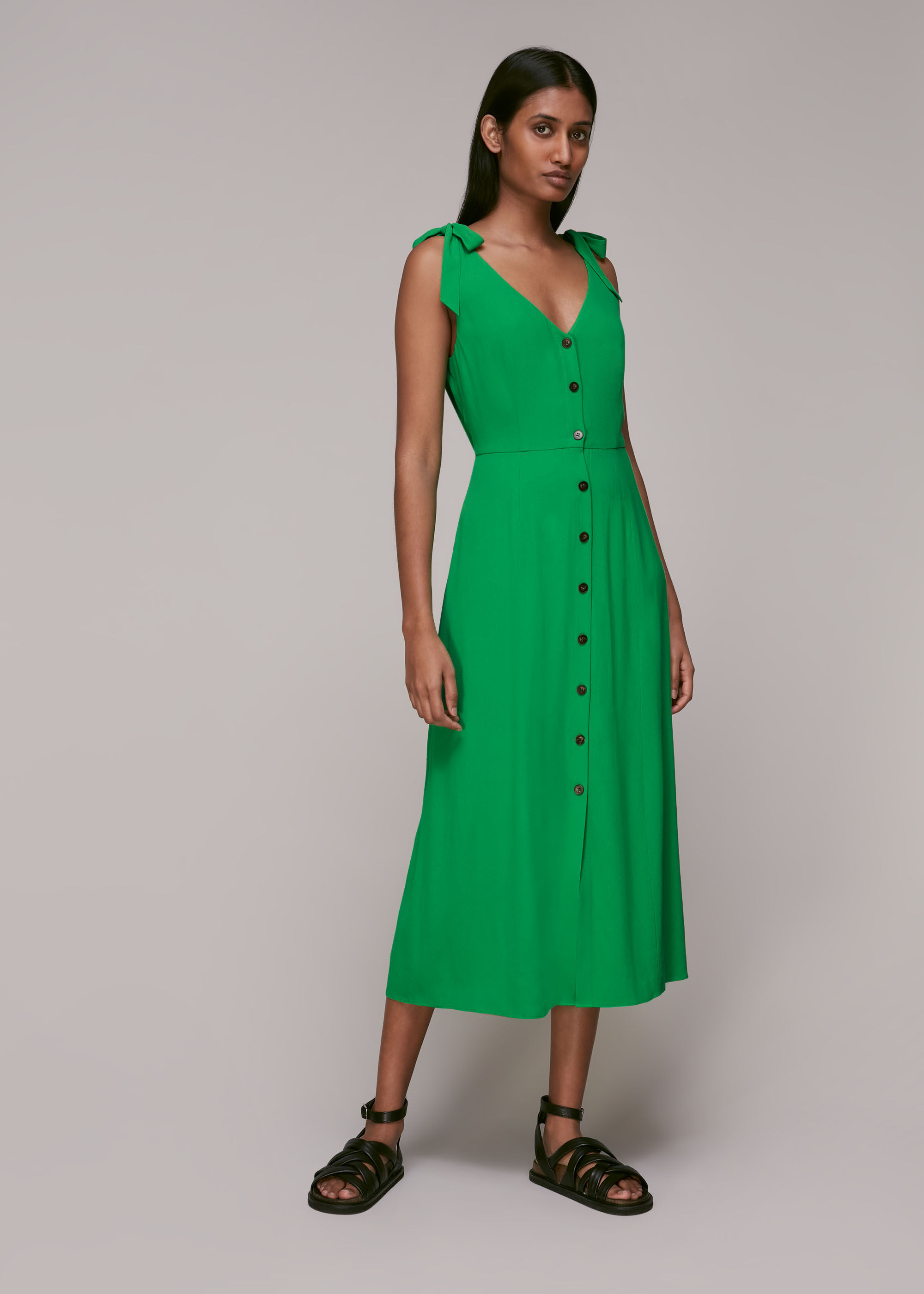 Whistles Women Hanna Tie Shoulder Dress