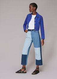 Taali Cropped Suede Jacket