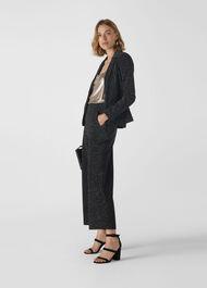 Sparkle Ponte Jersey Jacket Black