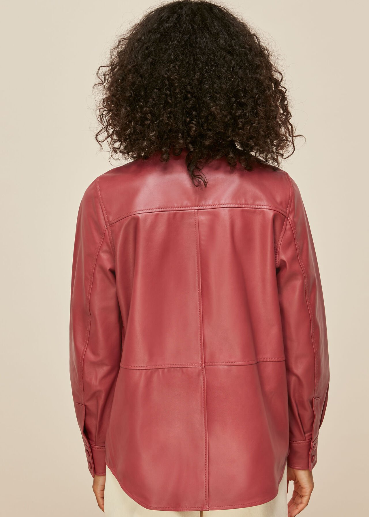 Panelled Leather Shirt