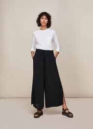 Fluid Crop Trouser Black