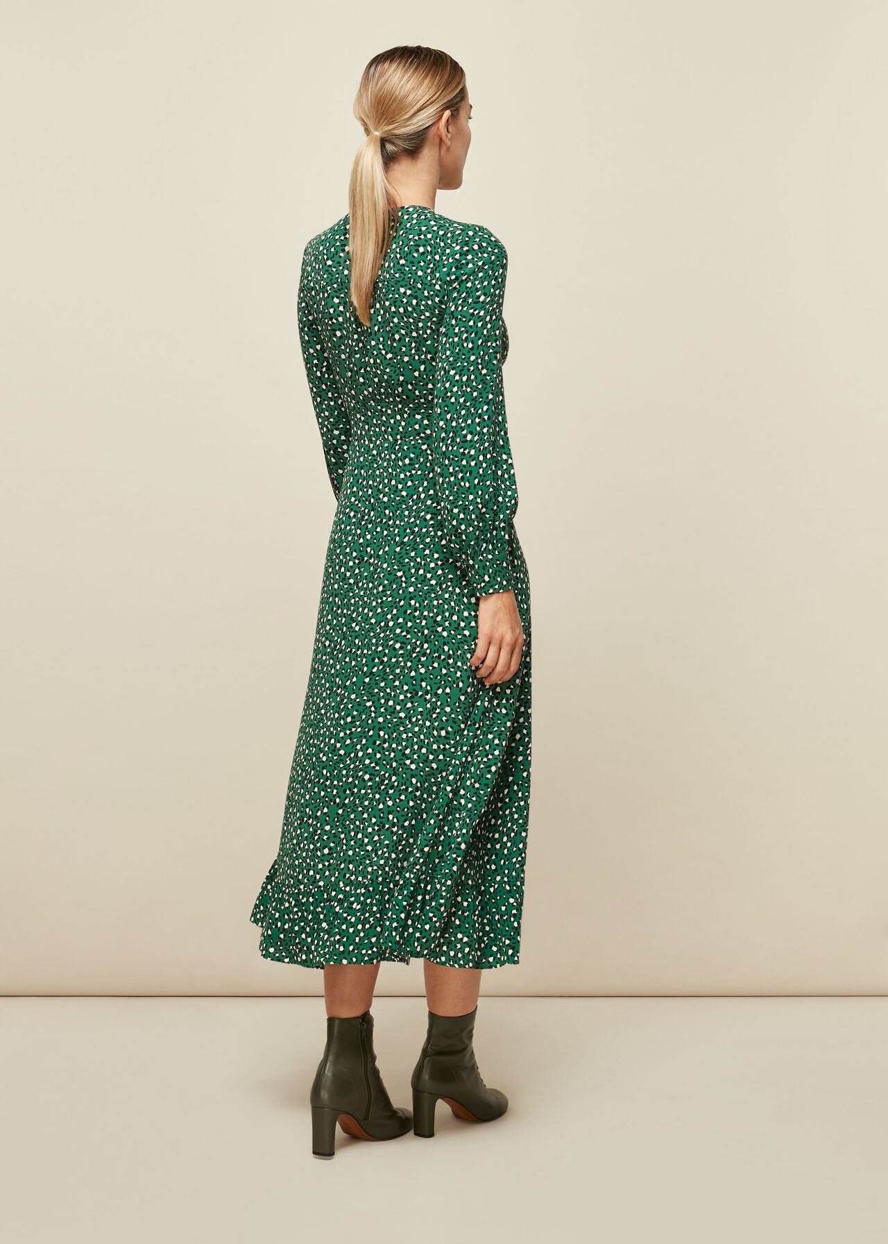 Wild Leopard Print Midi Dress