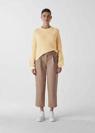 Fashion Detail Cotton Knit Lemon