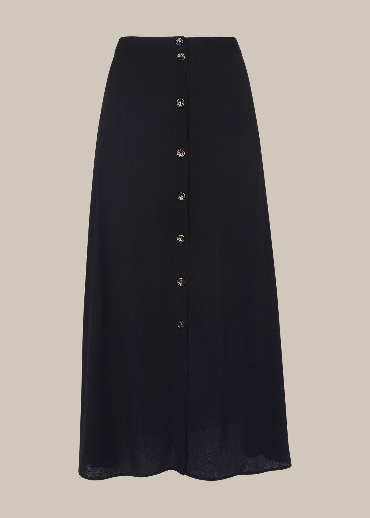 Button Front Skirt
