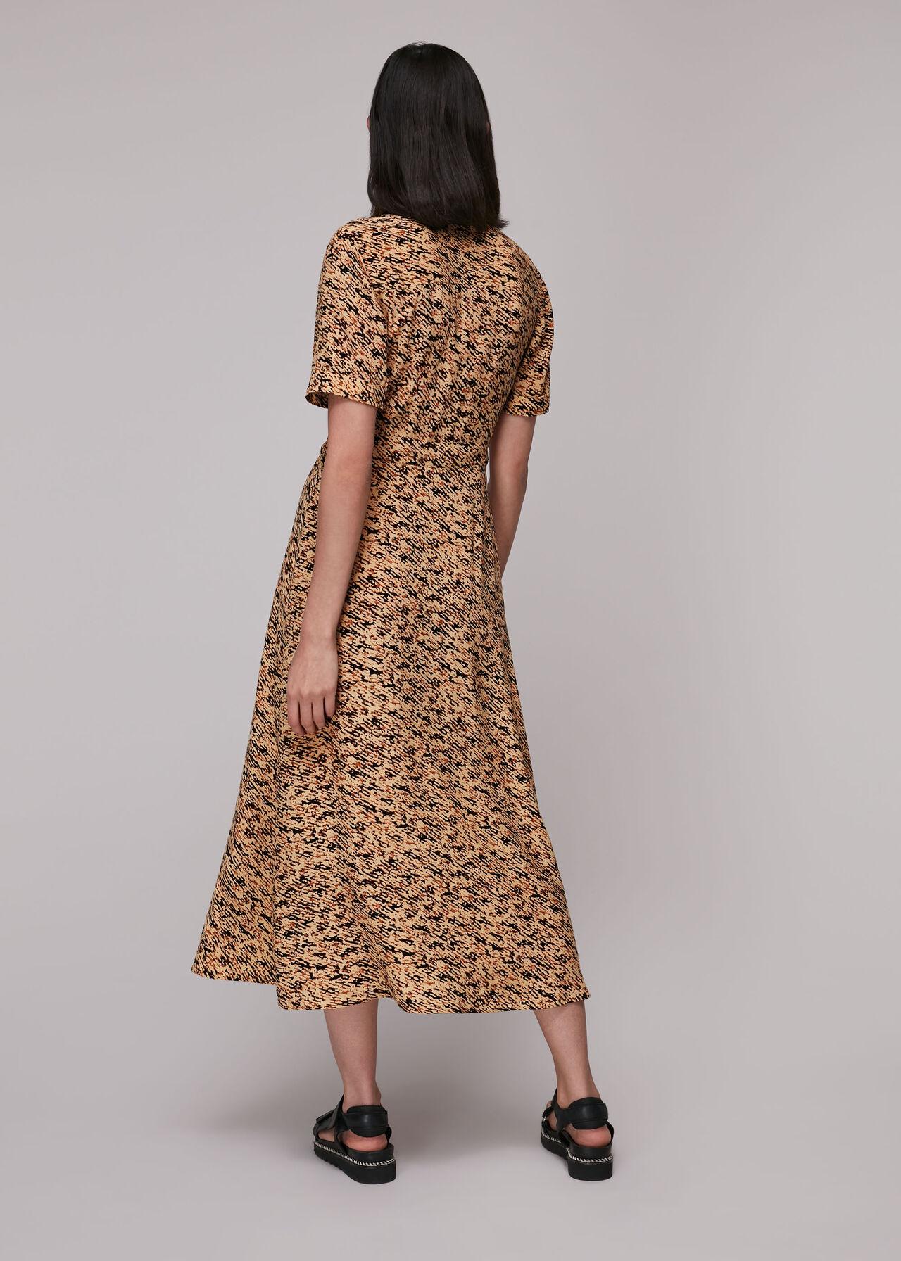 Bark Print Shirt Dress